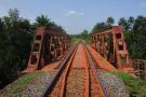 Vue du chemin de fer de Boké, projet d'augmentation de la capacité.