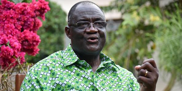Maurice Kakou Guikahué, secrétaire exécutif en chef du Parti démocratique de Côte d'Ivoire (PDCI), en 2015.