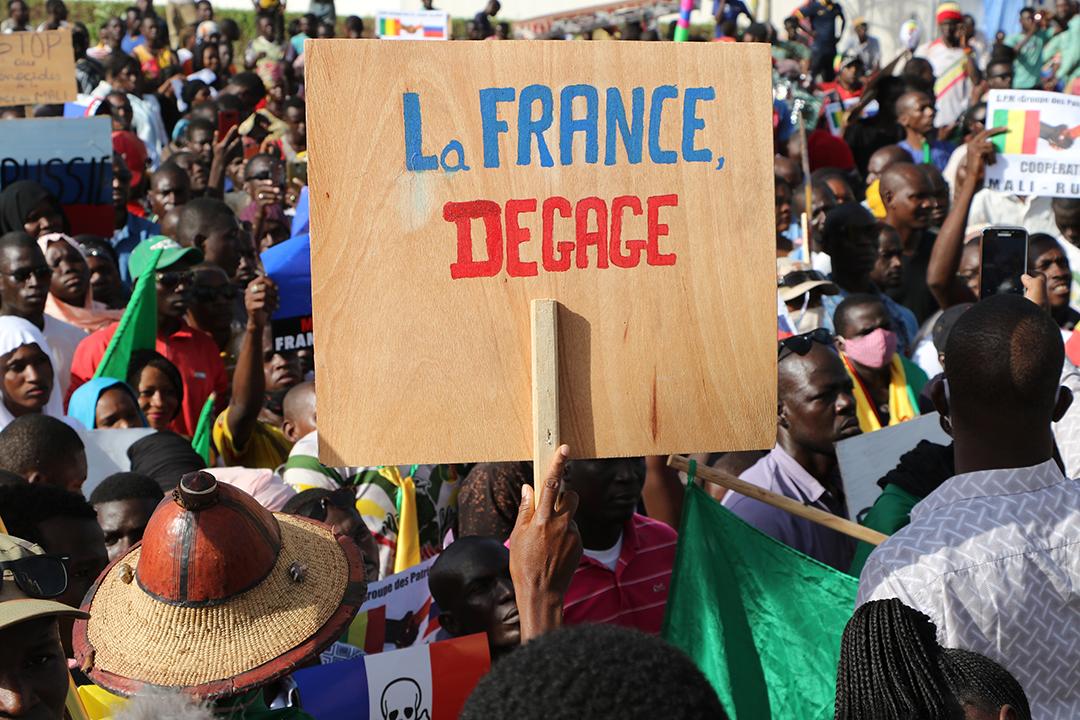 Une manifestation contre la présence française au Mali, le 22 septembre 2020.