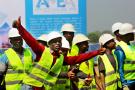 Le 3février 2020, lors du lancement officiel du chantier, à Blitta.