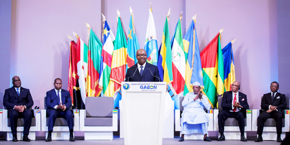 Le président Ali Bongo Ondimba lors du sommet extraordinaire de la Ceeac, le 18décembre 2019.