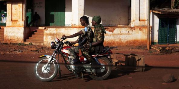 Deux ex-Séléka à Bambari, en mai 2014.e