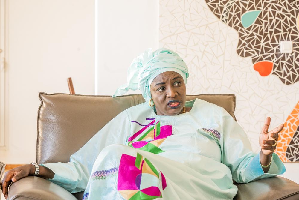 Aminata Touré, à son domicile, à Dakar, en décembre 2020.