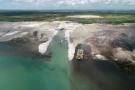 Site de construction de GNL au Mozambique