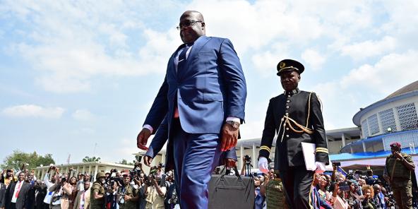 Félix Tshisekedi le jour de sa prestation de serment, le 24 janvier 2019, à Kinshasa