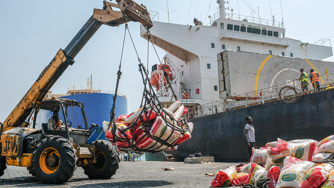 Port autonome de Cotonou, le 6 janvier 2021.
