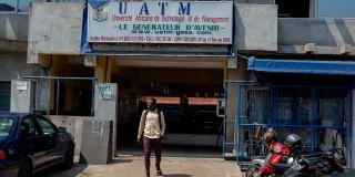 Sèdjro, un étudiant de l'université privée UATM Gasa-Formation, à Cotonou, en janvier 2021.