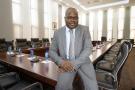 Ibrahima Khalil Kaba, nommé ministre guinéen des Affaires étrangères le 19 janvier 2021, à la présidence guinéenne en 2015.