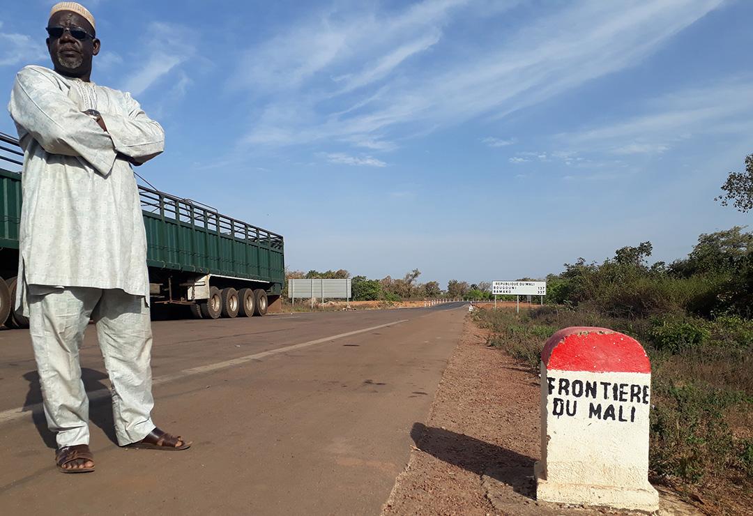Au poste-frontière entre la Côte d'Ivoire et le Mali, à la fin de décembre 2020.