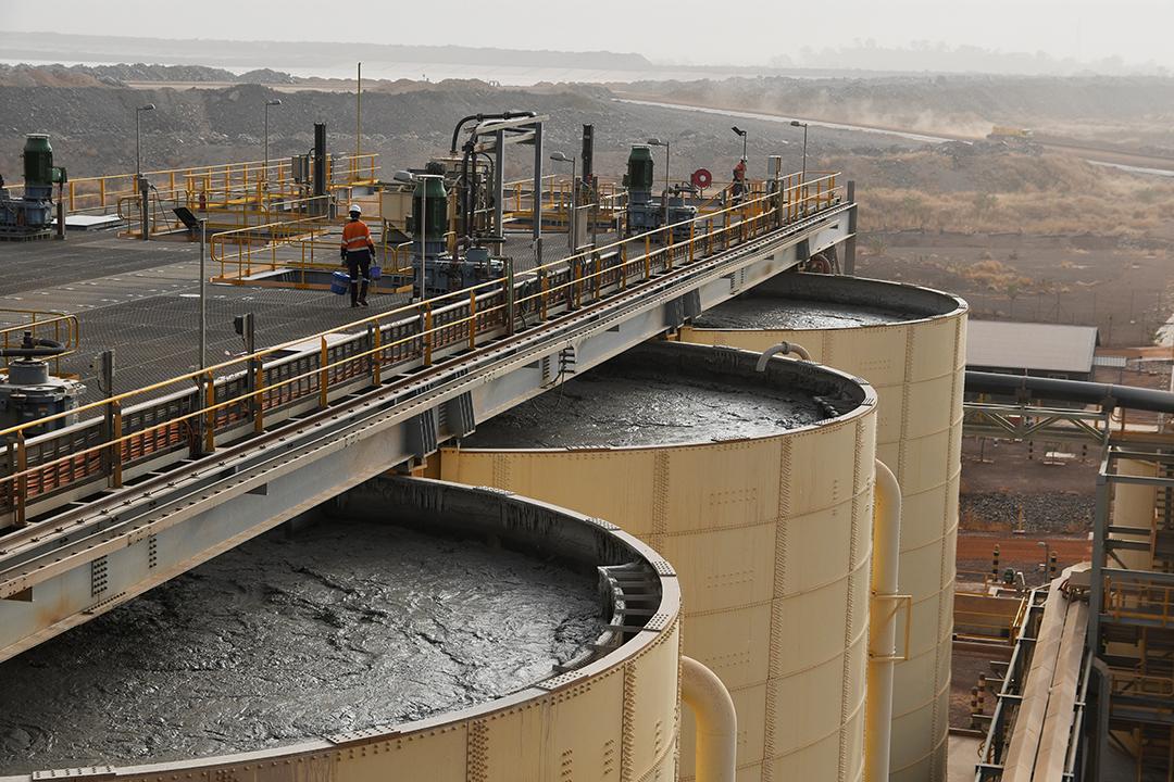 Mine de Hounde, au Burkina Faso.