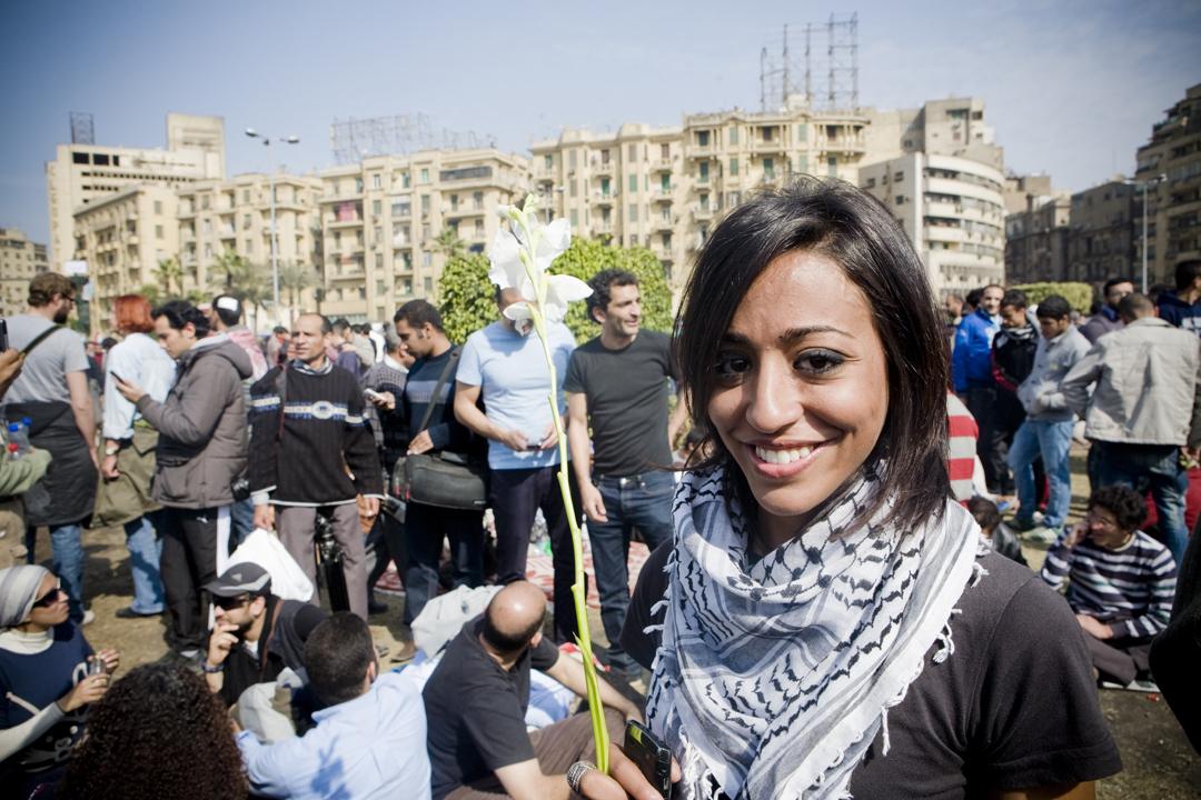 La militante Gigi Ibrahim documente la révolution.