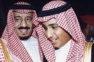 Le roi Salman avec le jeune prince Mohammed Ben Salman (à dr.)