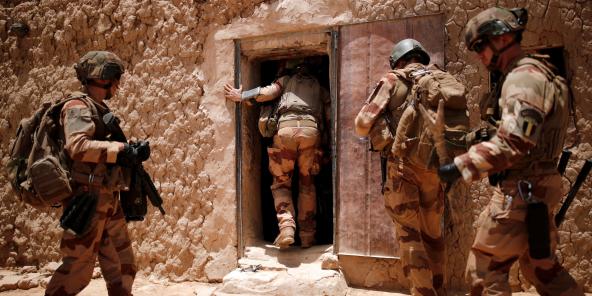Des soldats français de Barkhane, lors d'une opération dans la région du Gourma, dans le centre du Mali.