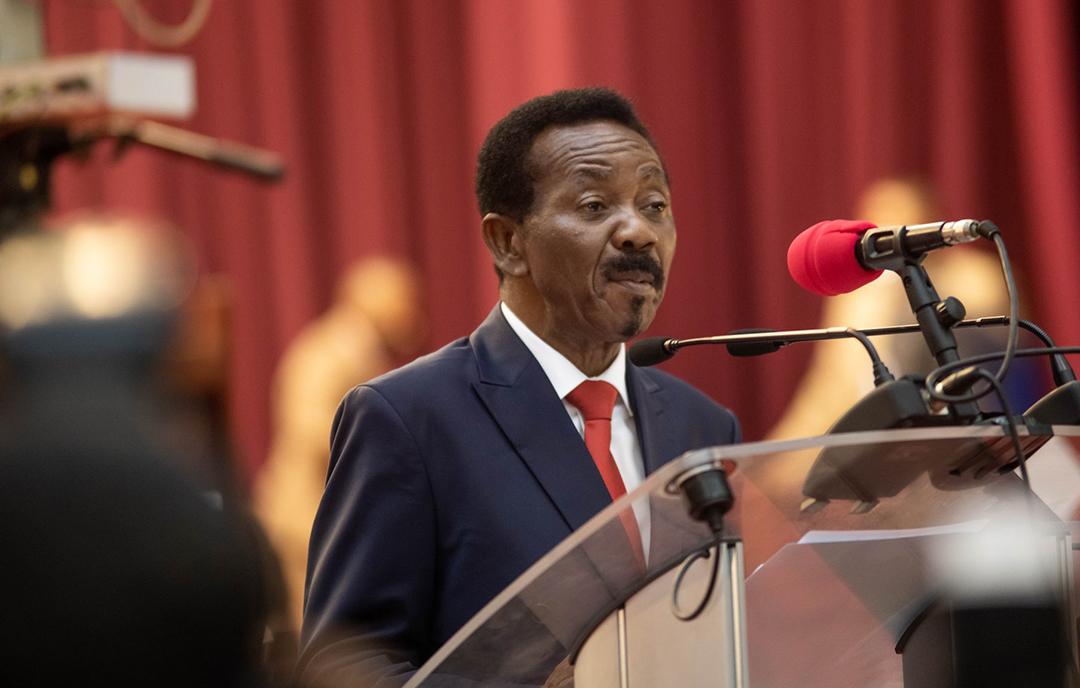 Christophe Mboso Nkodia PWanga, le nouveau président de l'Assemblée nationale congolaise.