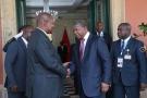 Faustin-Archange Touadéra et João Lourenço à Luanda, le 30 janvier.