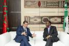 Le président de la Banque africaine de développement, Akinwumi Adesina et Aziz Akhannouch, ministre de l'Agriculture du Maroc.