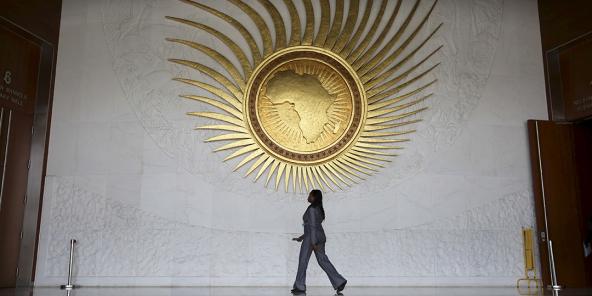 Au siège de l'Union africaine, à Addis-Abeba, en 2016.