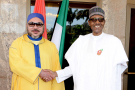 Mohammed VI et Muhammadu Buhari, à Abuja, le 2 décembre 2016.