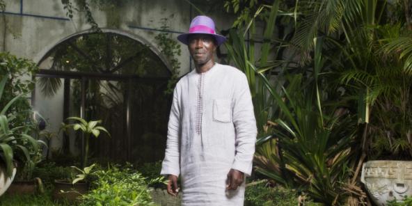 Ganiou Soglo, au domicile de la famille Soglo à Cotonou, en juin 2016.