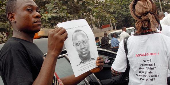 Enterrement de Floribert Chebeya, activiste des droits de l'homme, chef du groupe «La Voix des sans Voix», au Stade Kintambo.