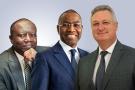 Ken Ofori-Atta, Amadou Hott et Ali Kooli, ministres de l'Économie ghanéen, sénégalais et tunisien.