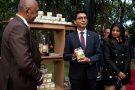 Le président Andry Rajoelina, lors de la présentation du Covid-Organics, le 20 avril 2020 à Antananarivo.
