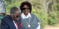 Robert Mugabe et sa femme Grace, le 29 juillet 2018, dans leur résidence «Blue Roof», à Harare.