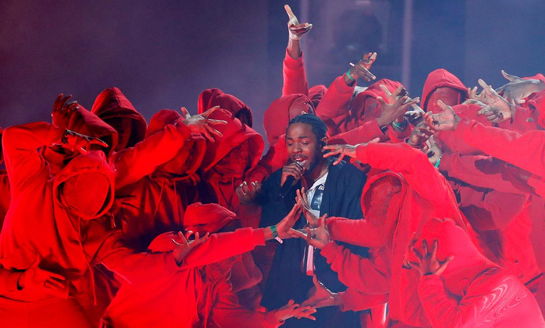 Kendrick Lamar lors de la 60e édition des Grammy Awards, à New York, le 28 janvier 2018.