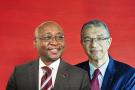 Donald Kaberuka et Lionel Zinsou, les deux fondateurs de la banque d'affaires aux ambitions panafricaines.