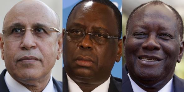 Mohamed Ould Ghazouani, Macky Sall et Alassane Ouattara.