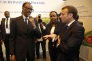 Paul Kagame et Emmanuel Macron lors du salon VivaTech, à Paris, en mai 2018