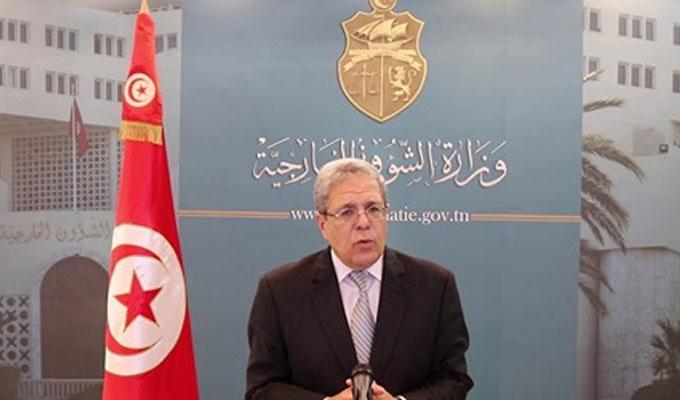 Othman Jerandi participe à la Conférence de l'UA, en février 2021.