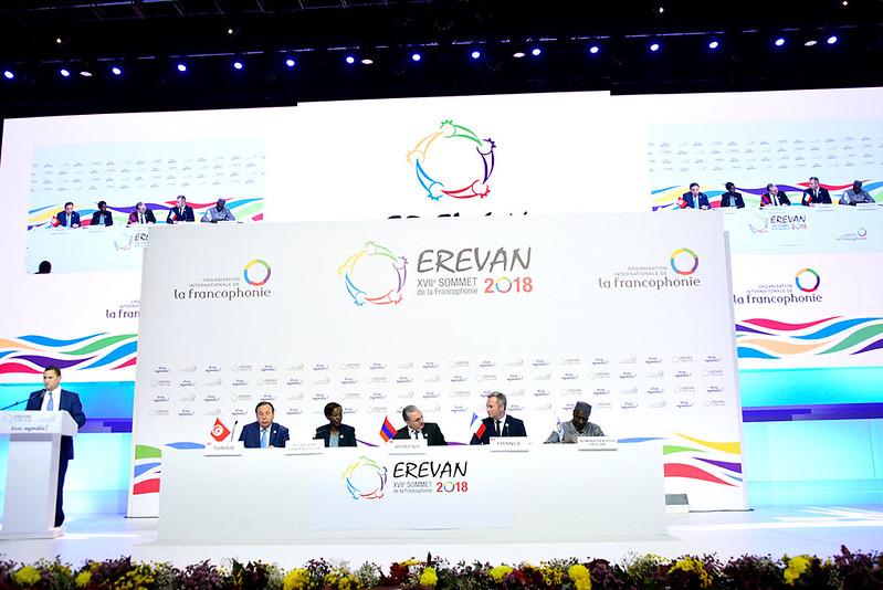 Lors du sommet de l'OIF à Erevan, en octobre 2018.
