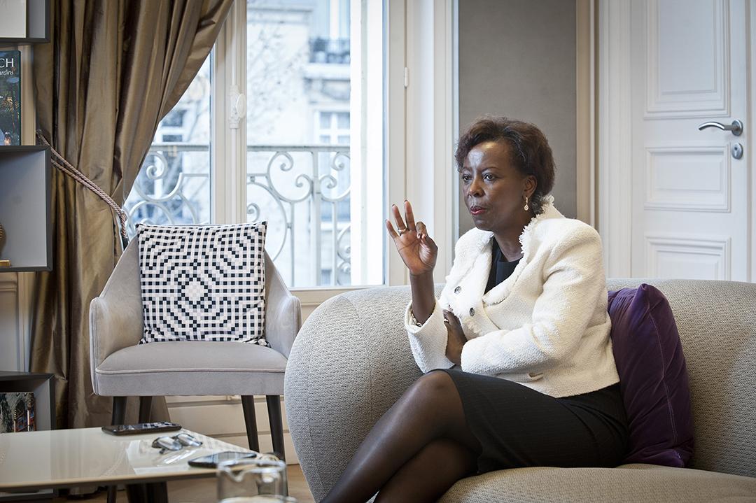 L'ancienne ministre rwandaise des Affaires étrangères à Paris, en mars 2020.