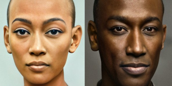 Portraits de Néfertiti et Akhenaton par Bas Uterwijk