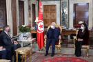 Rached Ghannouchi et Donald Blome, lors de leur entretien le 23 février à Tunis.