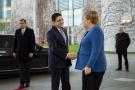 La chancelière allemande Angela Merkel avec Nasser Bourita, le MAE marocain.