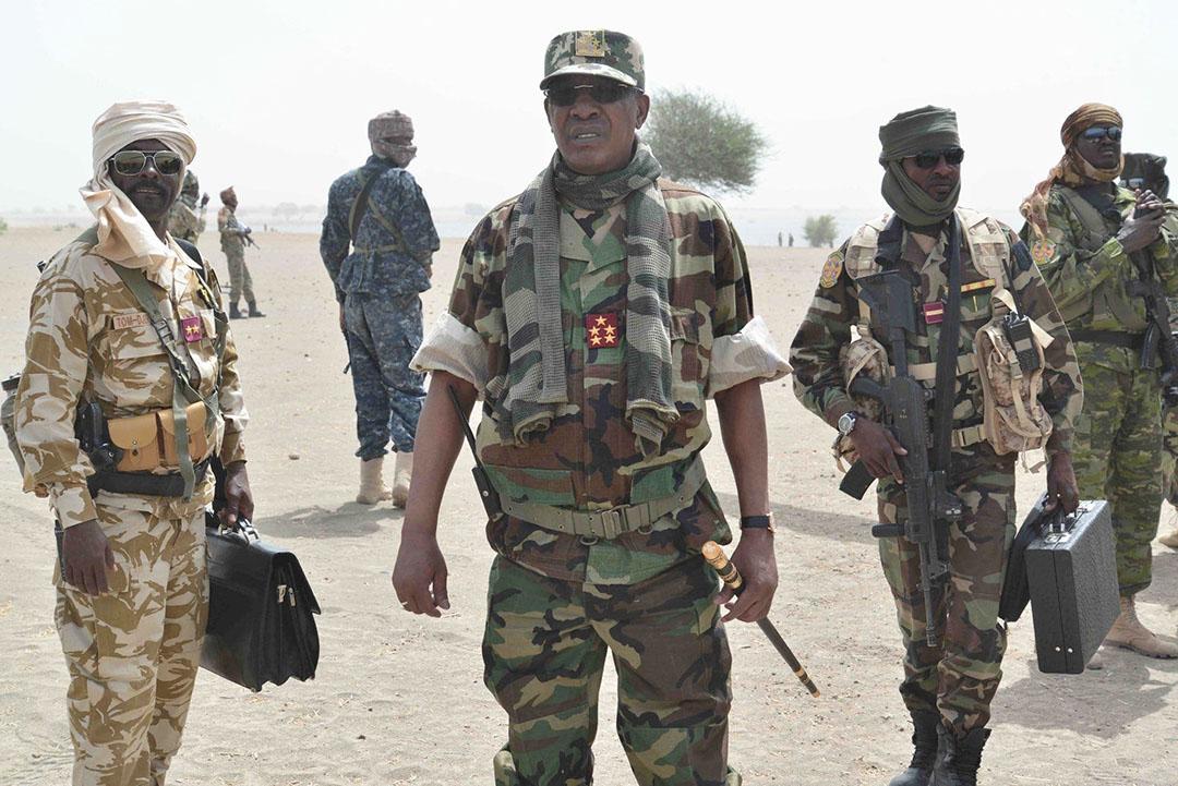 Le président tchadien Idriss Déby Itno en avril 2020, pendant l'opération «colère de Bohama».