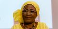 Monique Ilboudo, femme de lettres et militante des droits de l'homme burkinabè, le 25 avril 2018 à Genève, en Suisse.