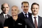 Ian Taylor, PDG de Vitol Group ; Torbjorn Tornqvist, DG de Gunvor ; Ivan Glasenberg, patron de Glencore, et Jeremy Weir, CEO de Trafigura.