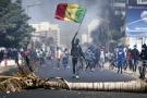 Un manifestant pro-Sonko, lors des heurts avec les forces de l'ordre, le 4 mars 2021 à Dakar.