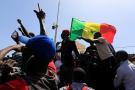 Des manifestants dans les rues de Dakar, le 8 mars 2021.
