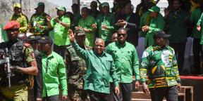 John Magufuli, le président de la Tanzanie, à Dodoma, le 29 août 2020.