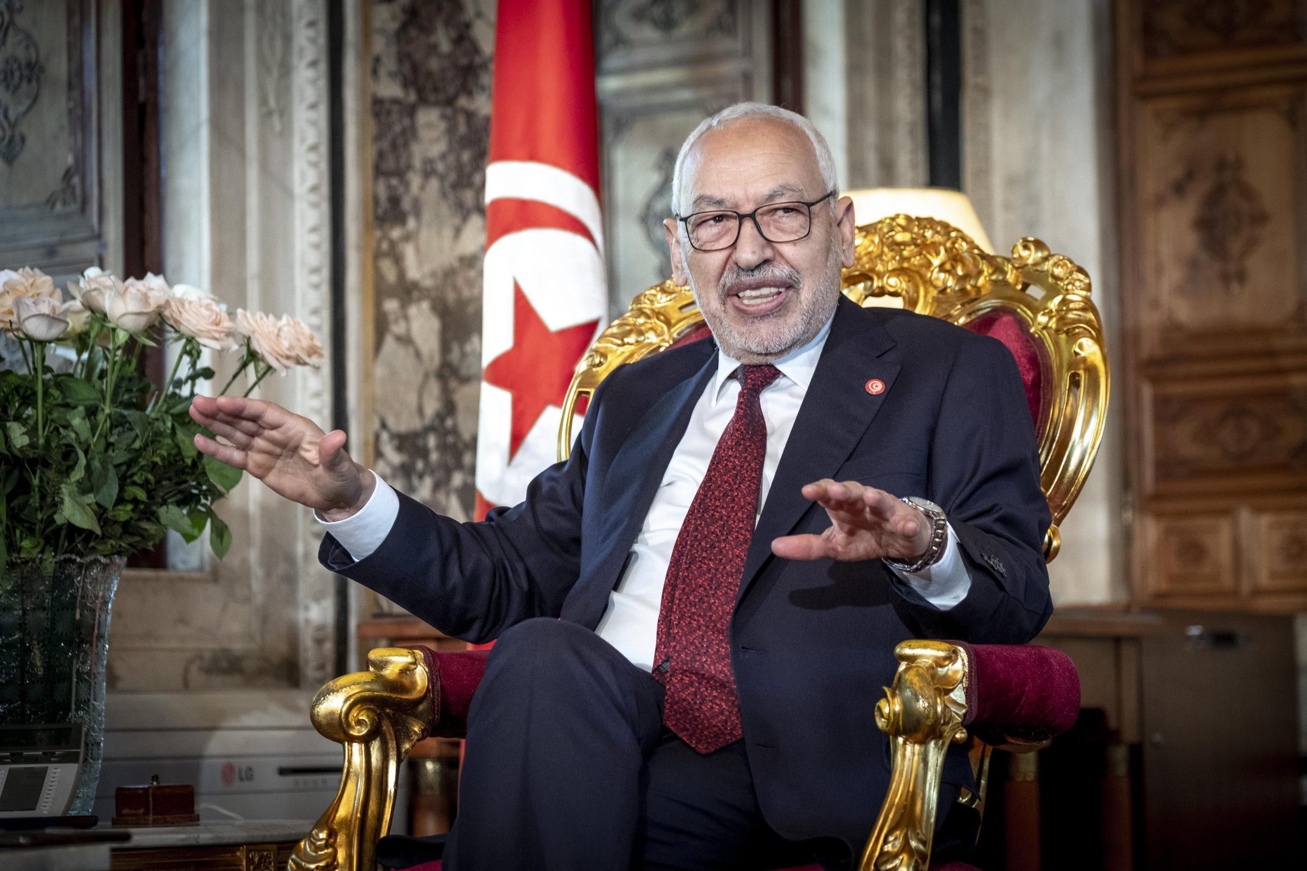 Rached Ghannouchi, président de l'Assemblée des représentants du peuple (APR), le 21 février 2020.