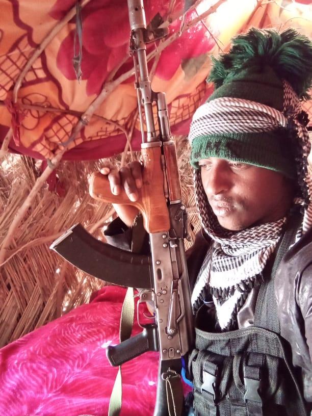 Mallam Kabirou, chef d'un groupe armé peul de l'État de Zamfara, au nord du Nigeria.