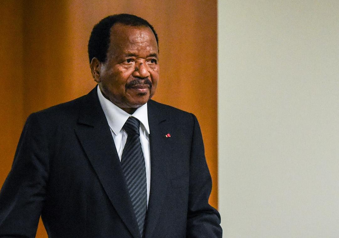 Le président camerounais Paul Biya à l'ONU, New York, le 22 septembre 2017.