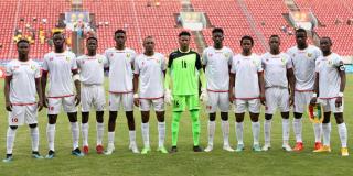 L'équipe nationale guinéenne lors du CHAN, au Cameroun, le 23 janvier 2021.