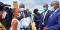 Arrivée du président du Botswana, Mokgweetsi Masisi, à Kinshasa, le 15 mars 2021