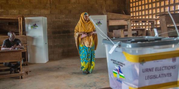 Lors des élections législatives en Centrafrique, dimanche 14 mars 2021.