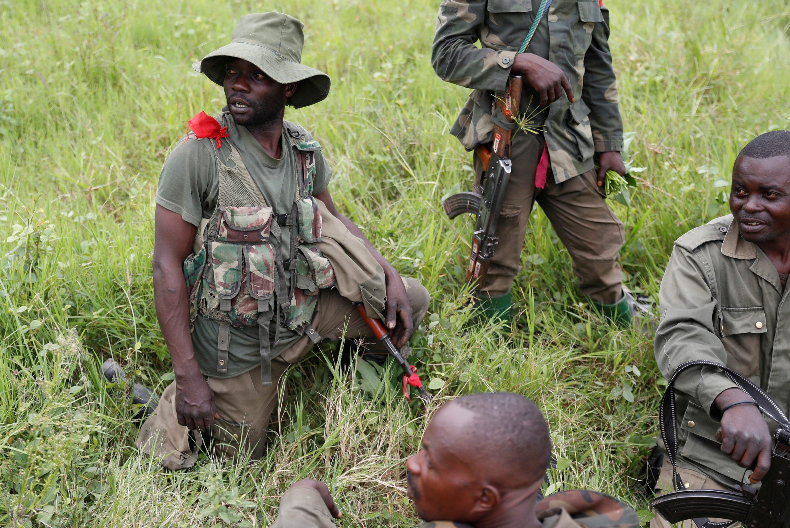 Un soldat congolais lors d'une opération contre les ADF, au Nord-Kivu en décembre 2018.